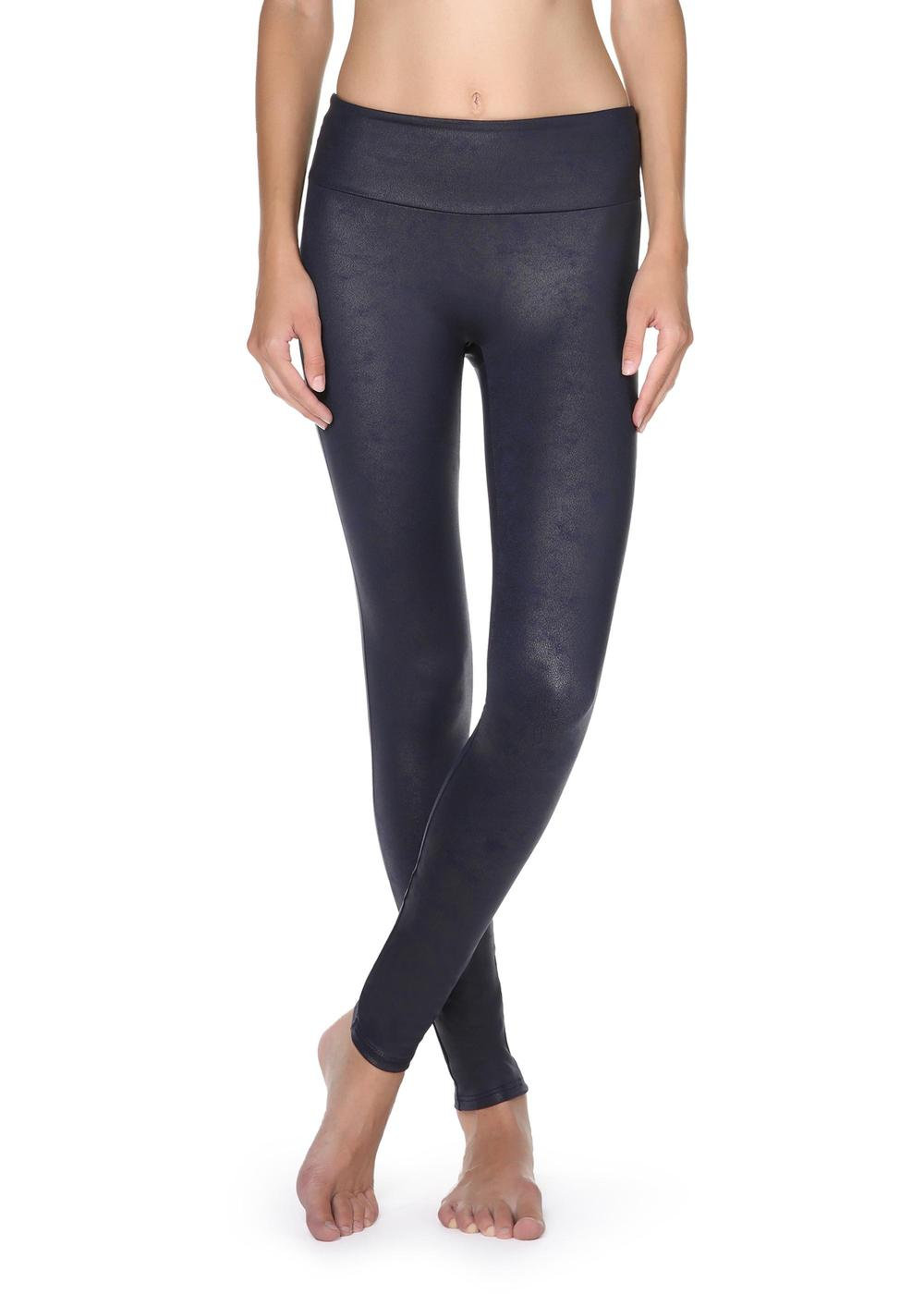 Total-Shaper-Leggings mit Leder-Effekt