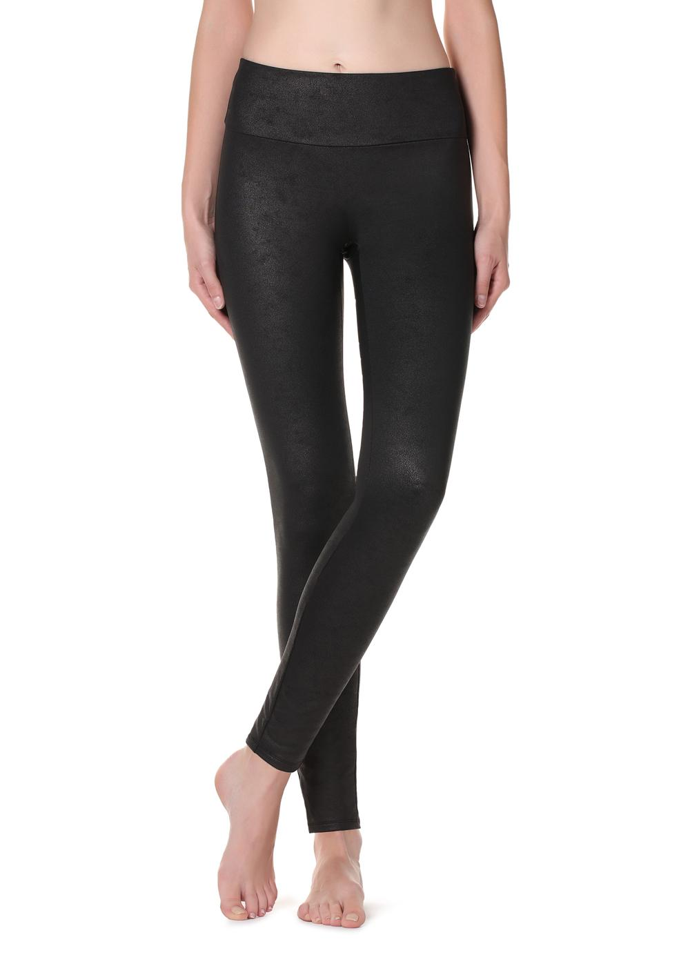 Total shaper thermal leather effect leggings