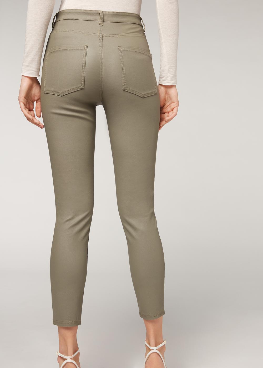 Leather-effect leggings