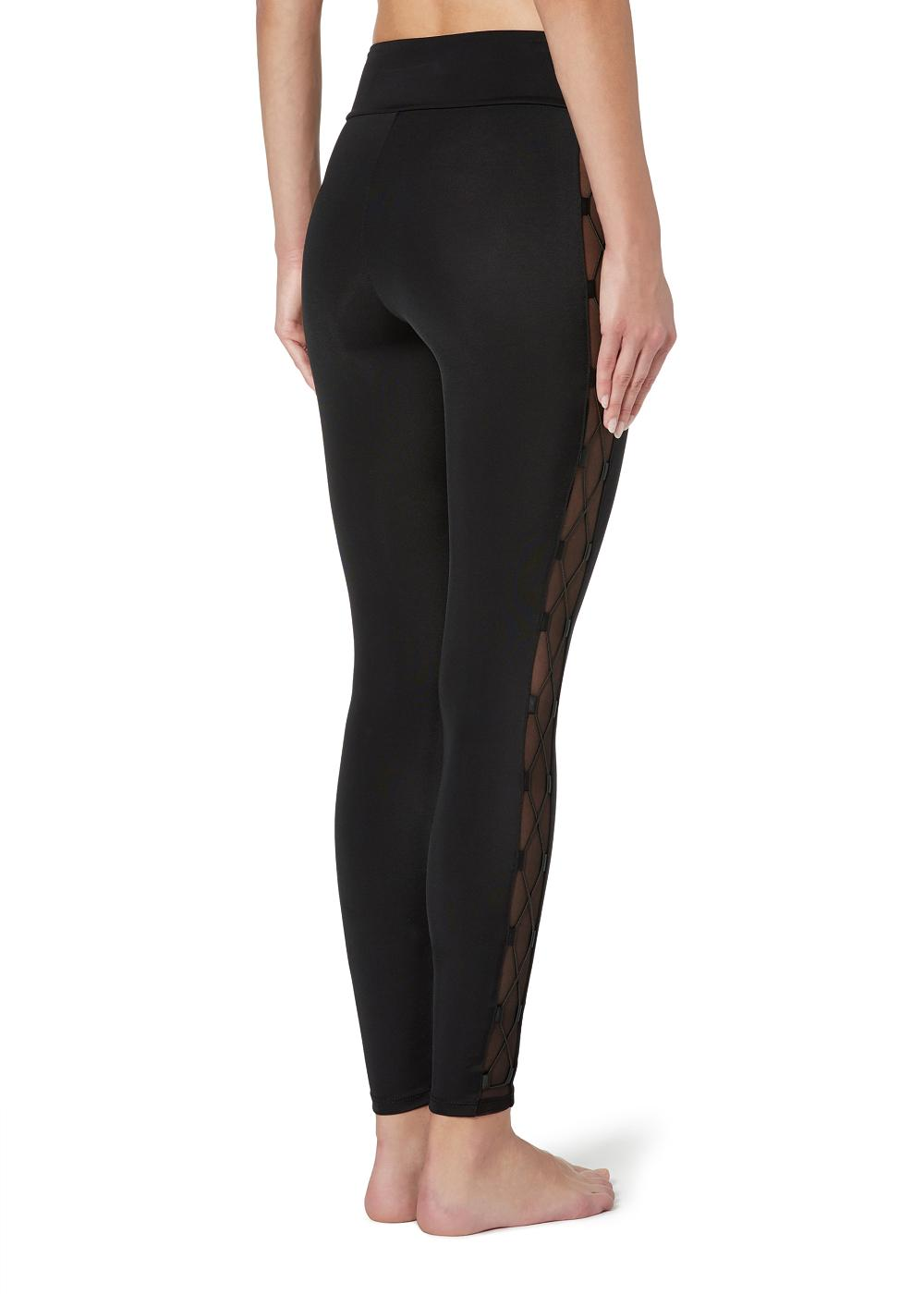 Leggings with Interlaced Details