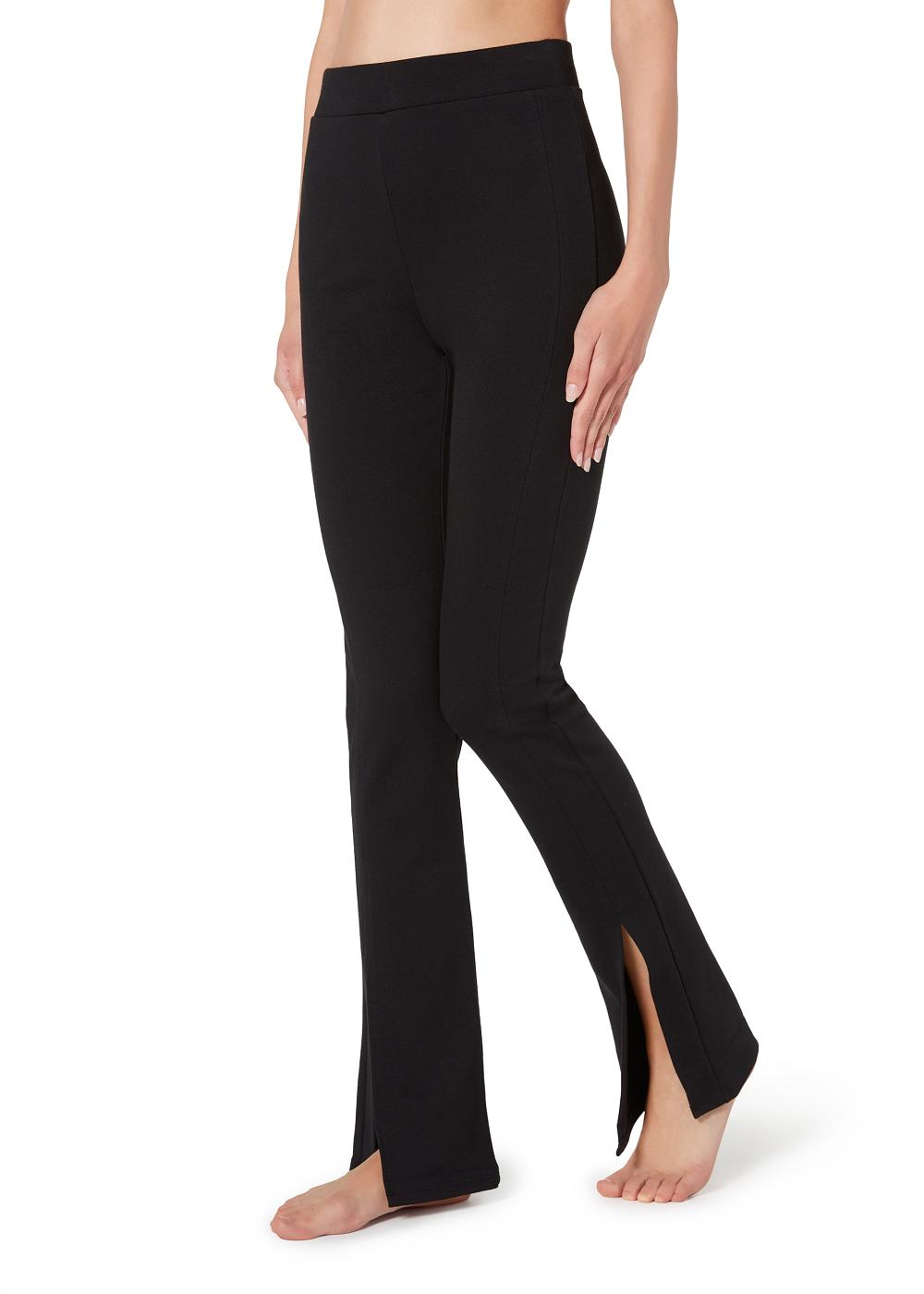 Flared Leggings with Slits