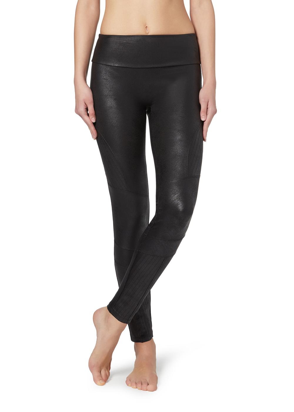 Leggings Total Shaper façon cuir motard