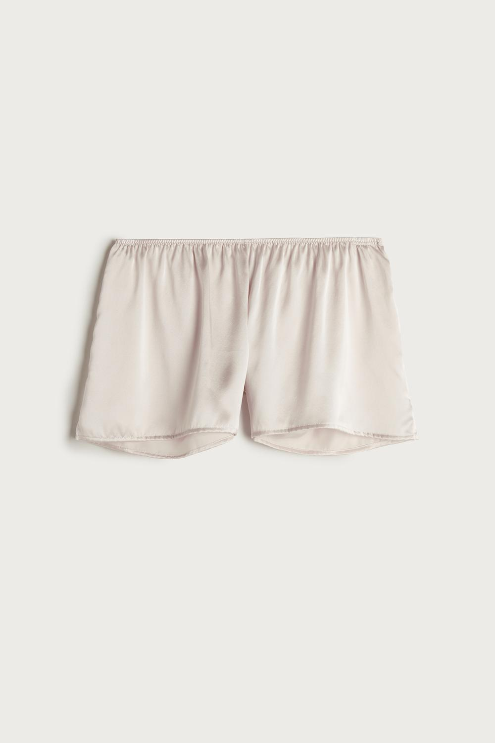 Smooth Silk-Satin Shorts