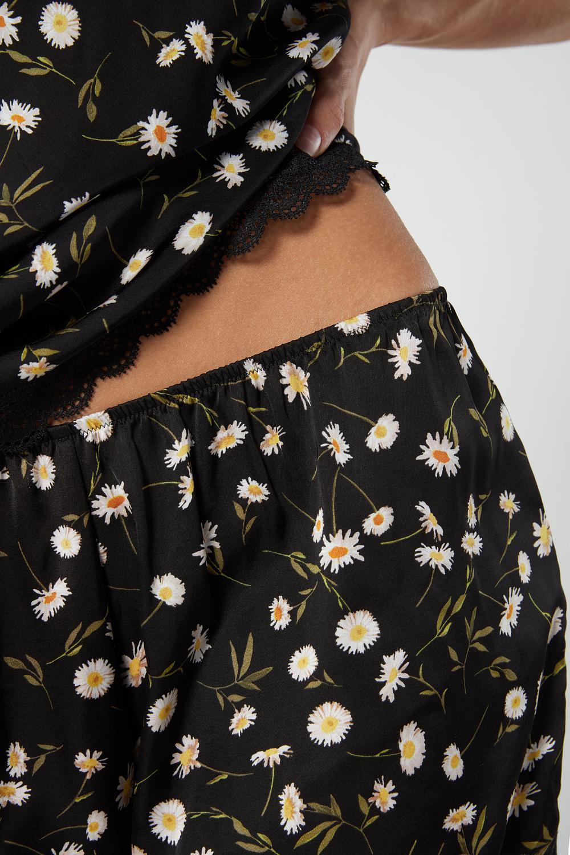 Pantaloncino Raso di Viscosa Daisies Garden