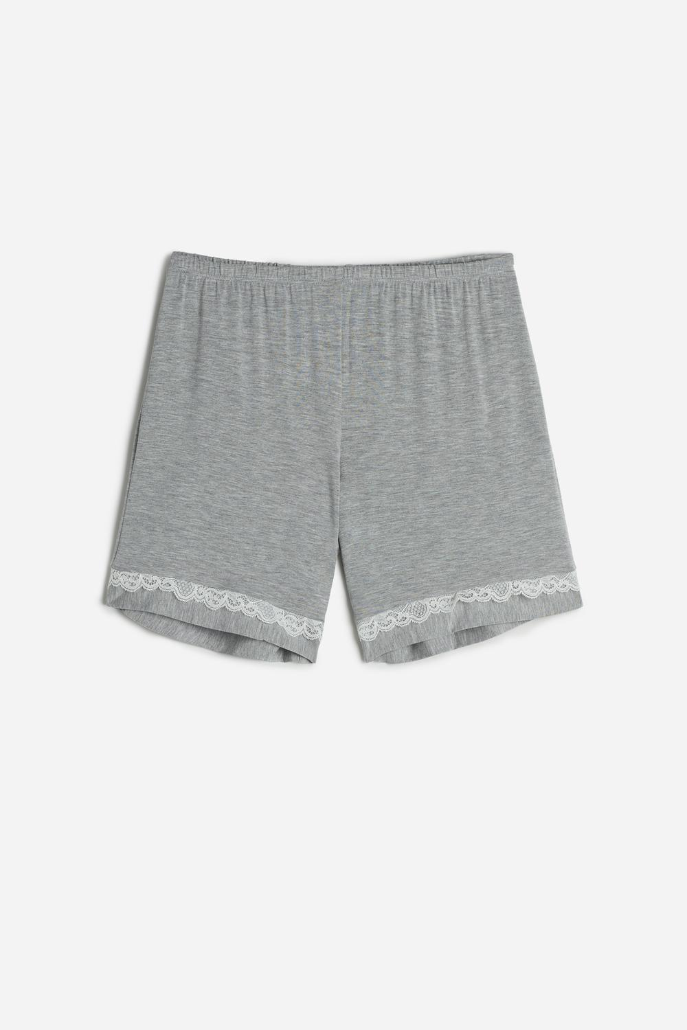 Modal Shorts with Lace Details