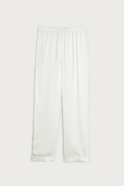 Pantalon en Satin et Soie