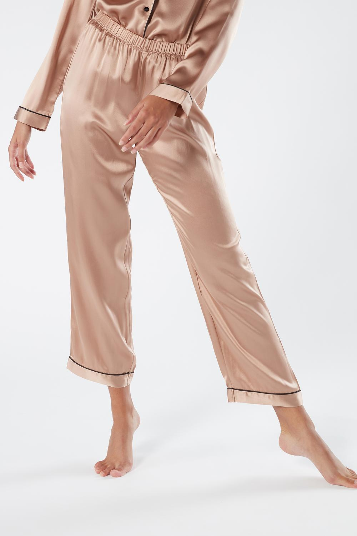 Pantalone Lungo in Raso e Seta