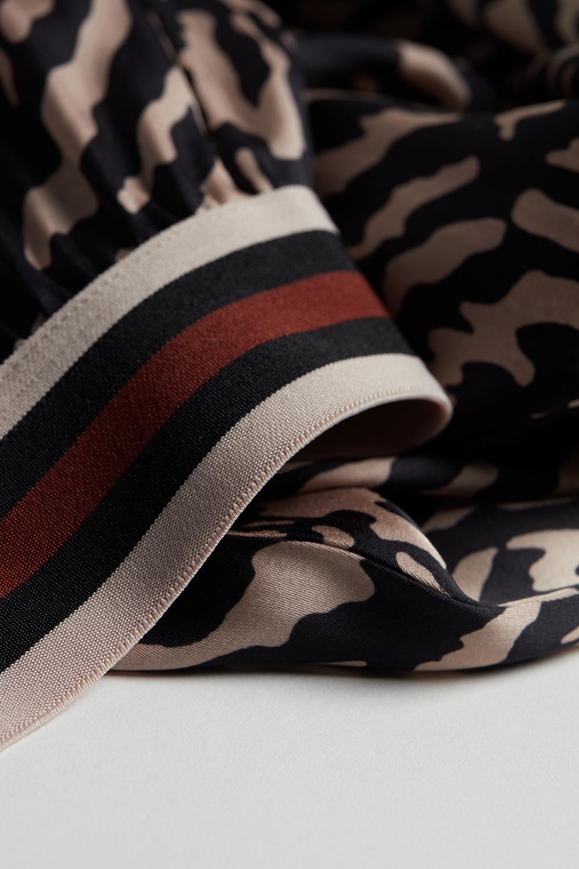 Pantaloni a Palazzo in Raso di Viscosa Zebra Stripes