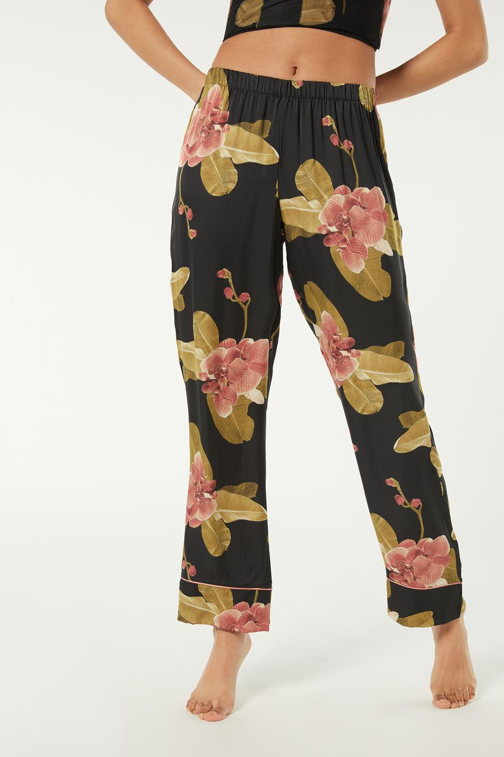 Dark Orchid Viscose Satin Trousers