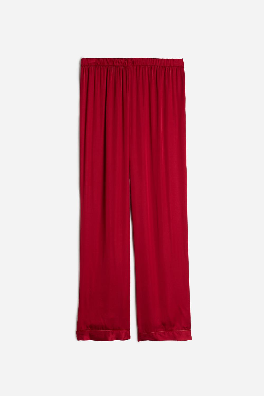 Pantalon en Satin de Viscose