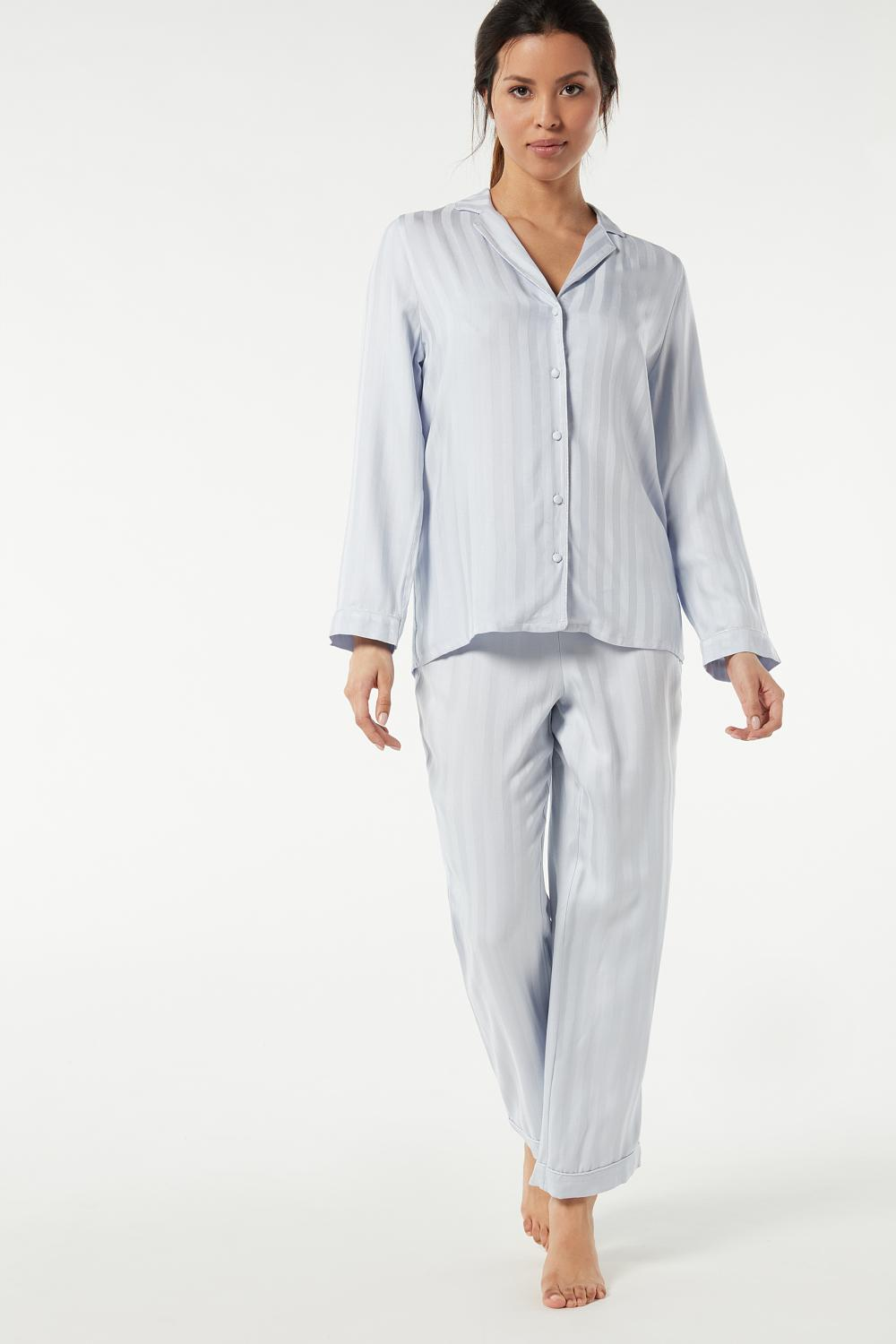 Striped Modal Canvas Pyjamas