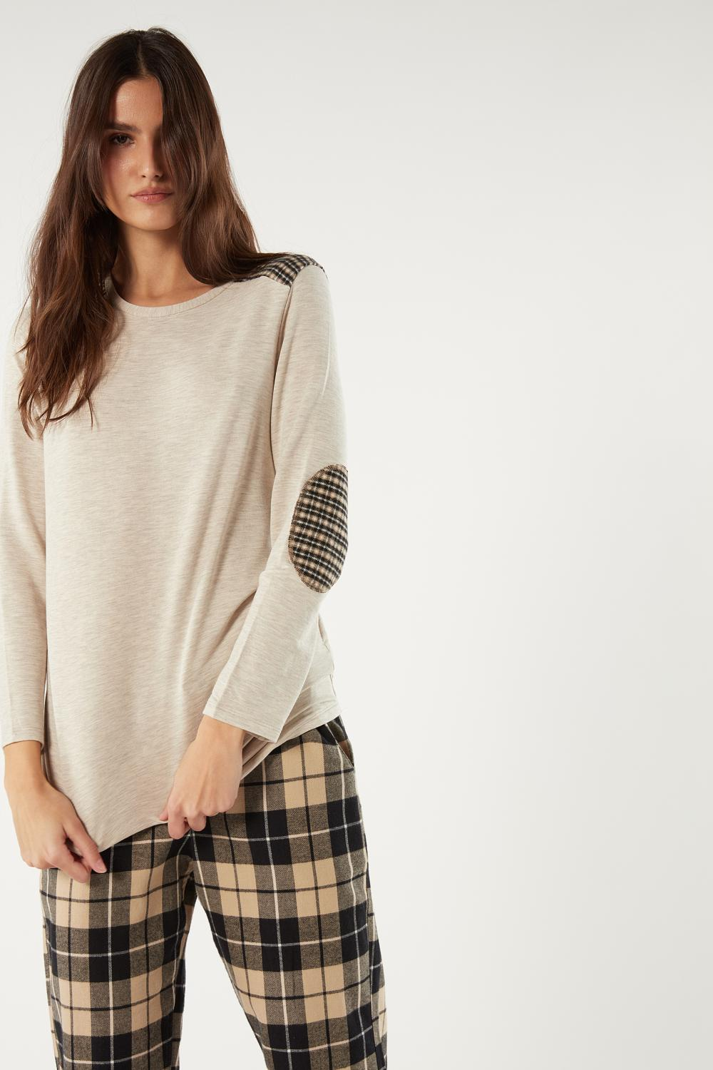 Long Modal and Cashmere Plaid Pyjama