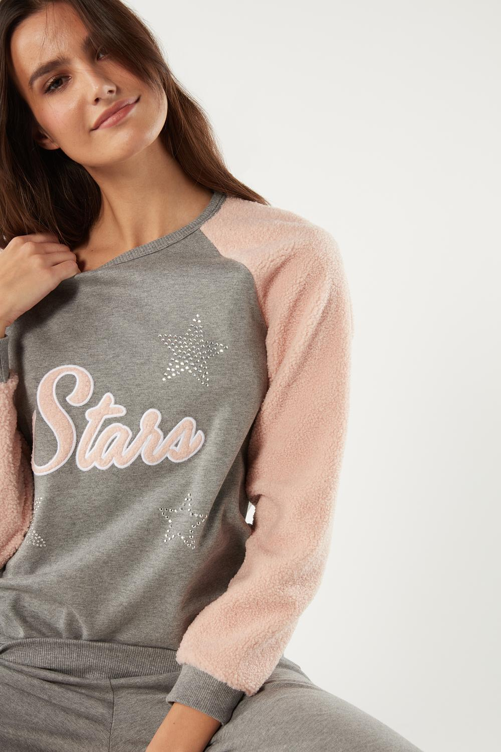 Long Interlock Stars Pajama