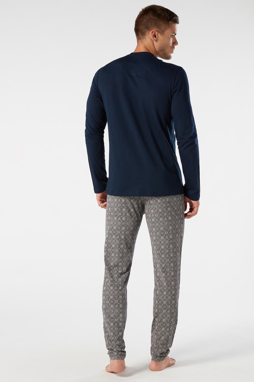 Langer Pyjama aus bedrucktem Jersey