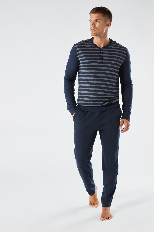 Striped Jersey Pajamas