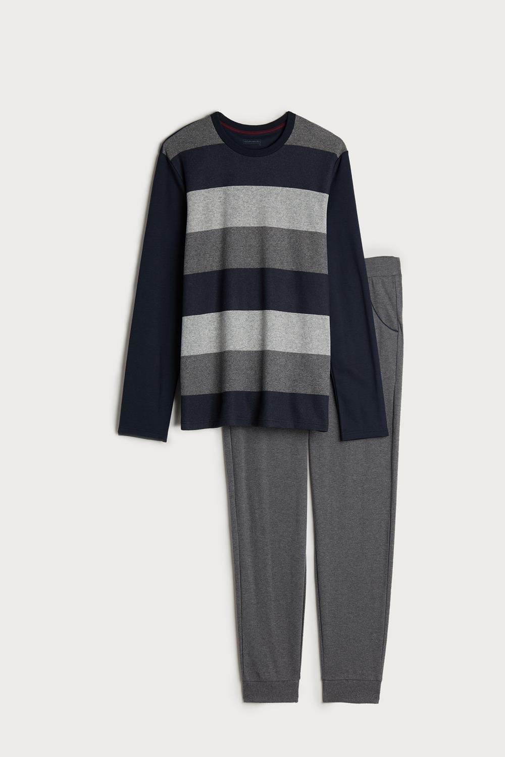 Long Striped Jaquard Pyjama