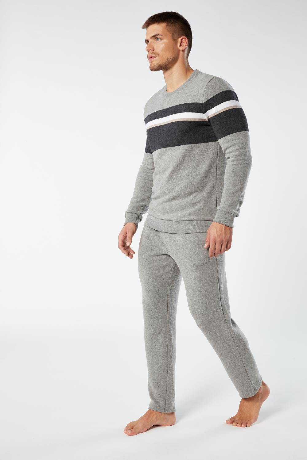 Long Striped Jacquard Pyjama