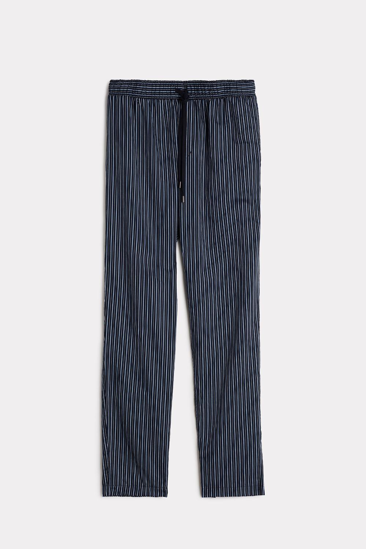 Pantalon de Pyjama Rayé en Coton