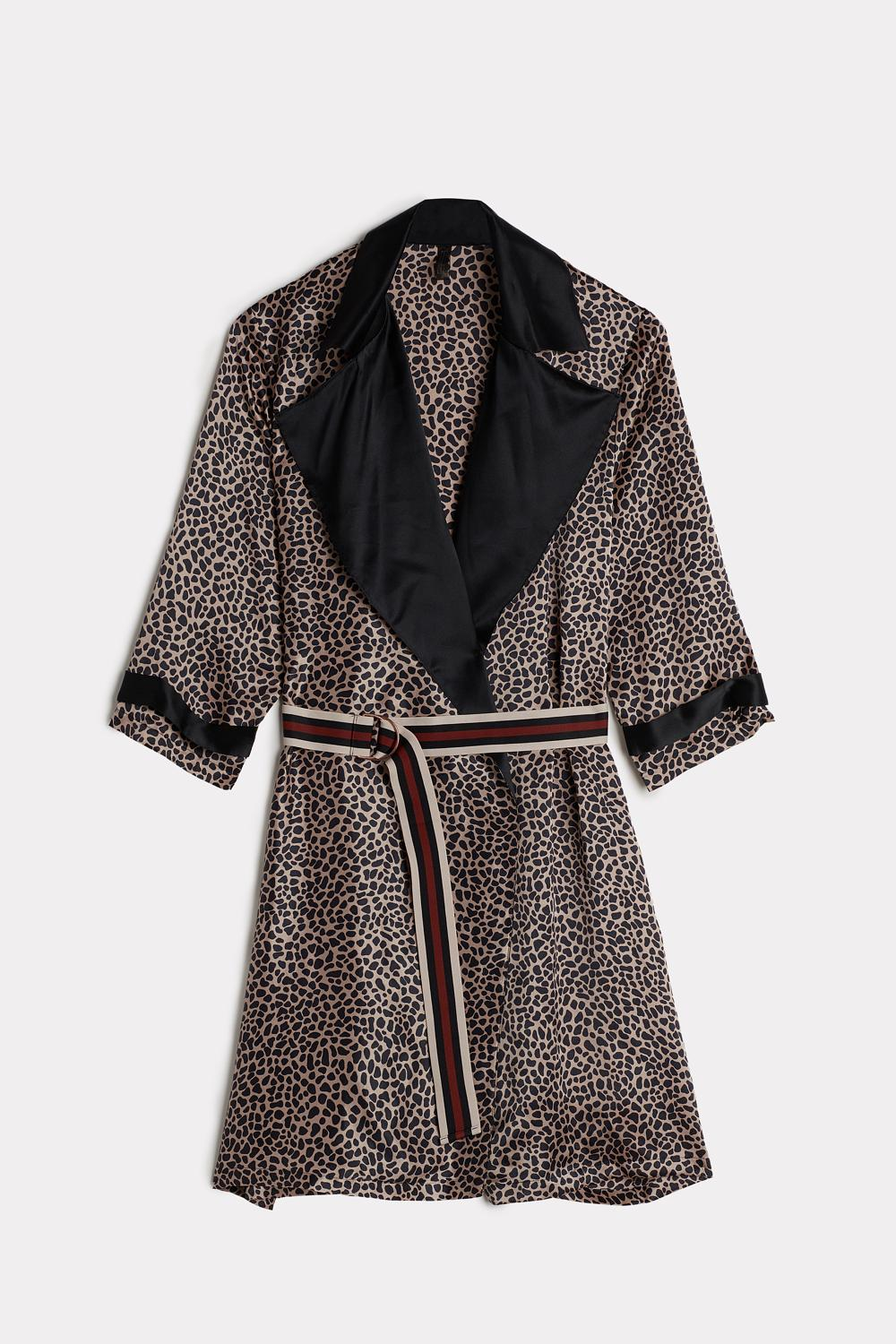 Zebra Stripes Silk Robe