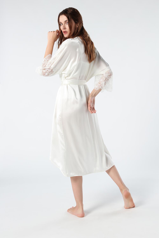 Timeless Elegance Long Silk Kimono
