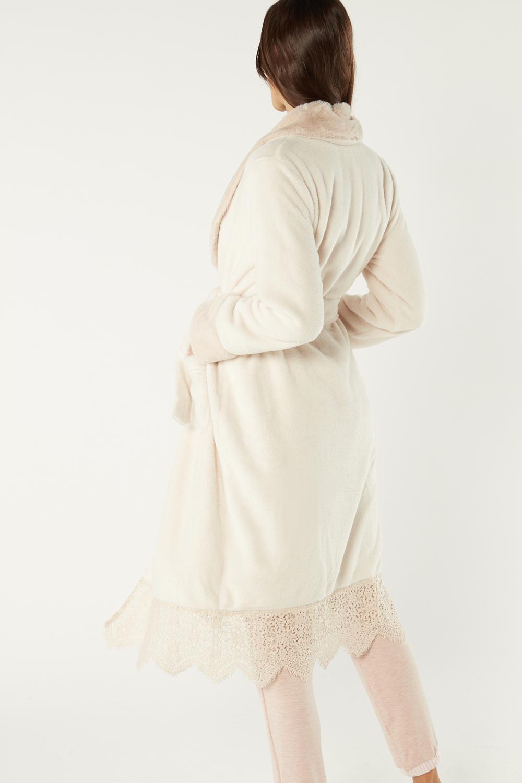 Long Faux Fur Dressing Gown