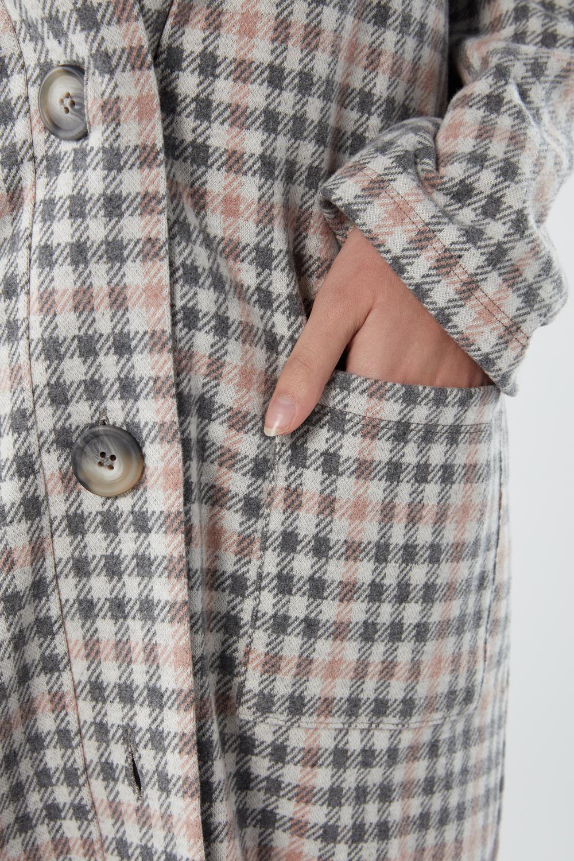 Robe de chambre à carreaux