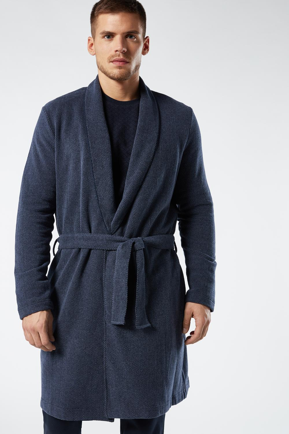 Knee-High False Plain Dressing Gown