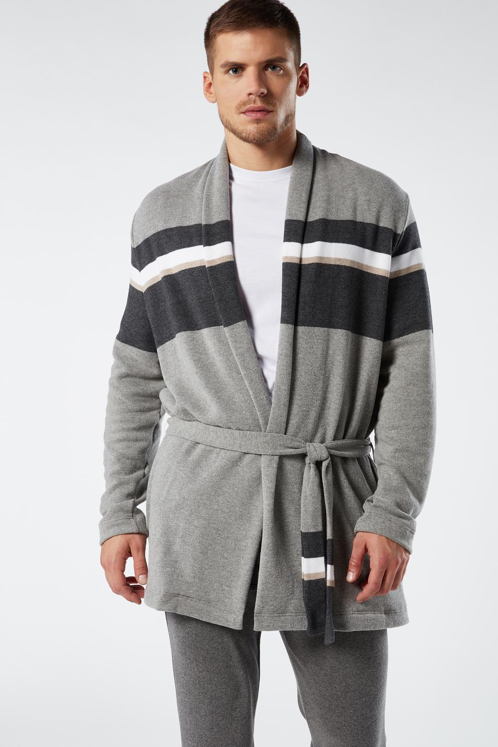 Striped Jacquard Dressing Gown