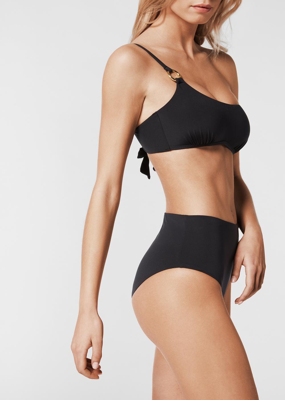 Megan One-Shoulder Bandeau Bikini Top