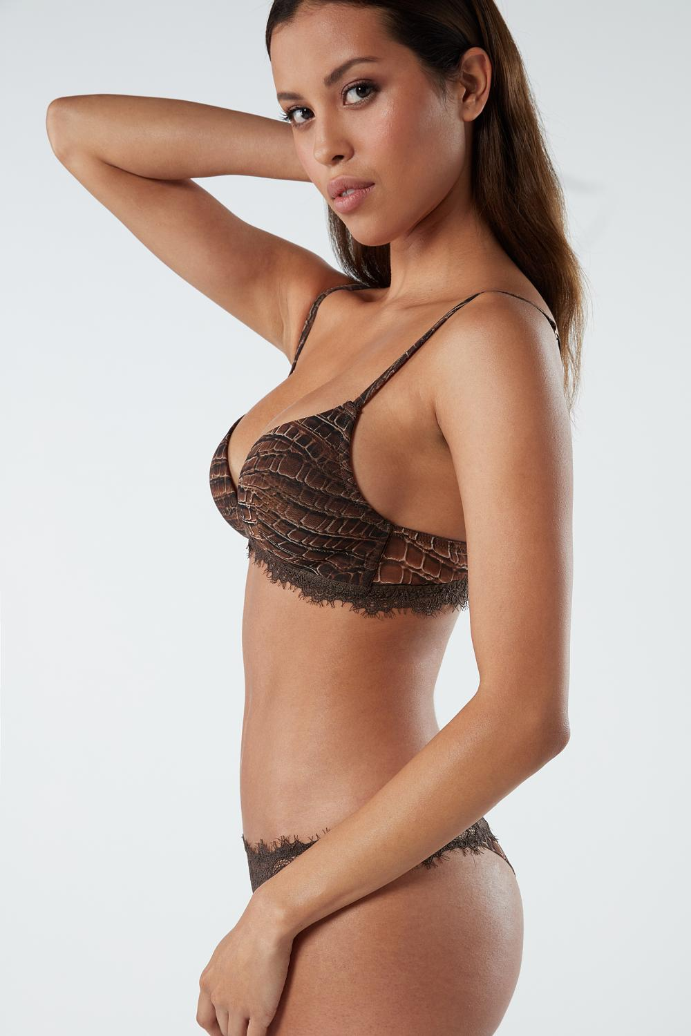 Tiziana Lady Crocodile Triangle Bra