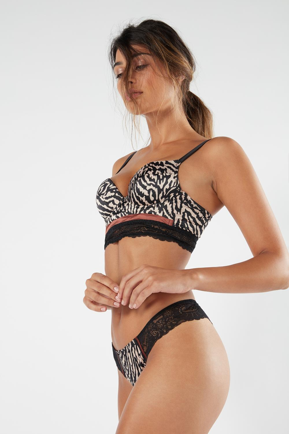 Simona Zebra Stripes Super Push-up Bra