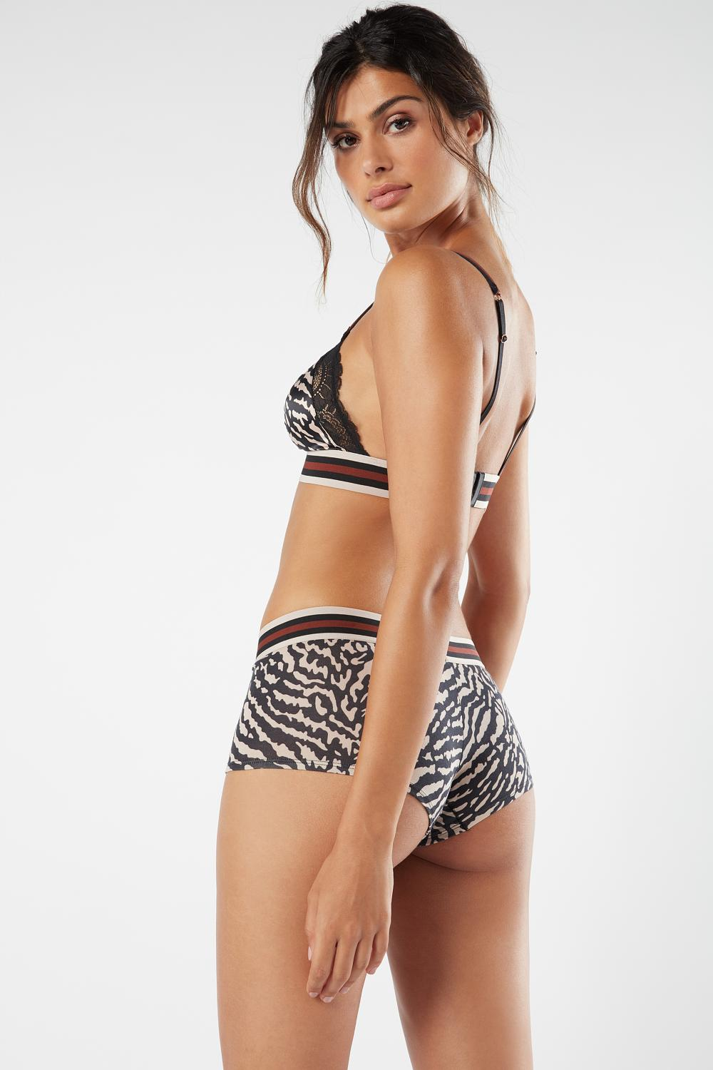 Reggiseno a Triangolo Zebra Stripes