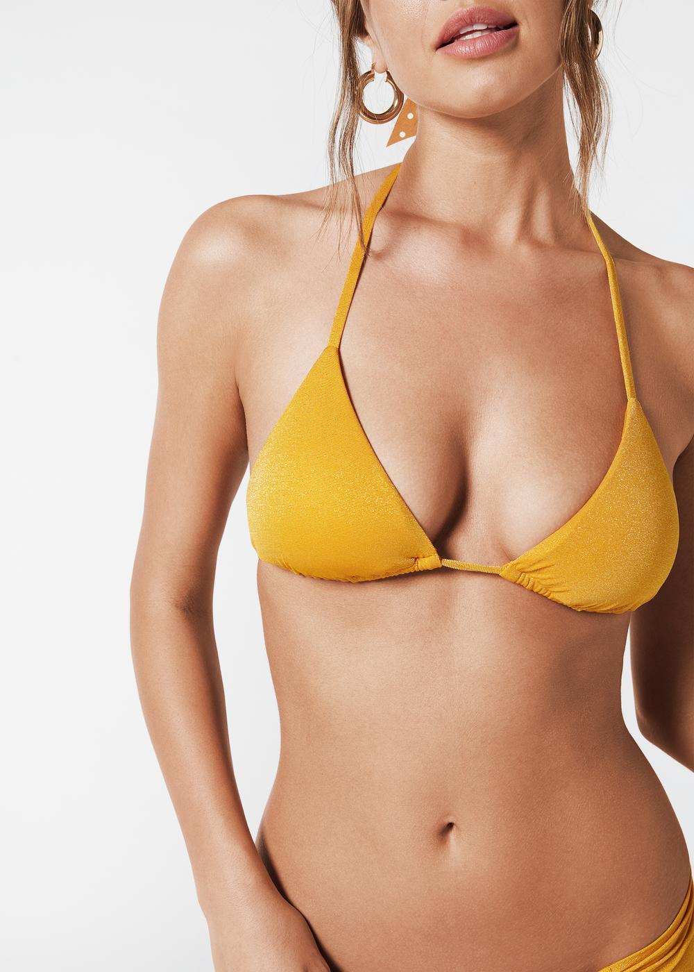 Triangel-Bikinioberteil mit verschiebbaren Cups Irene
