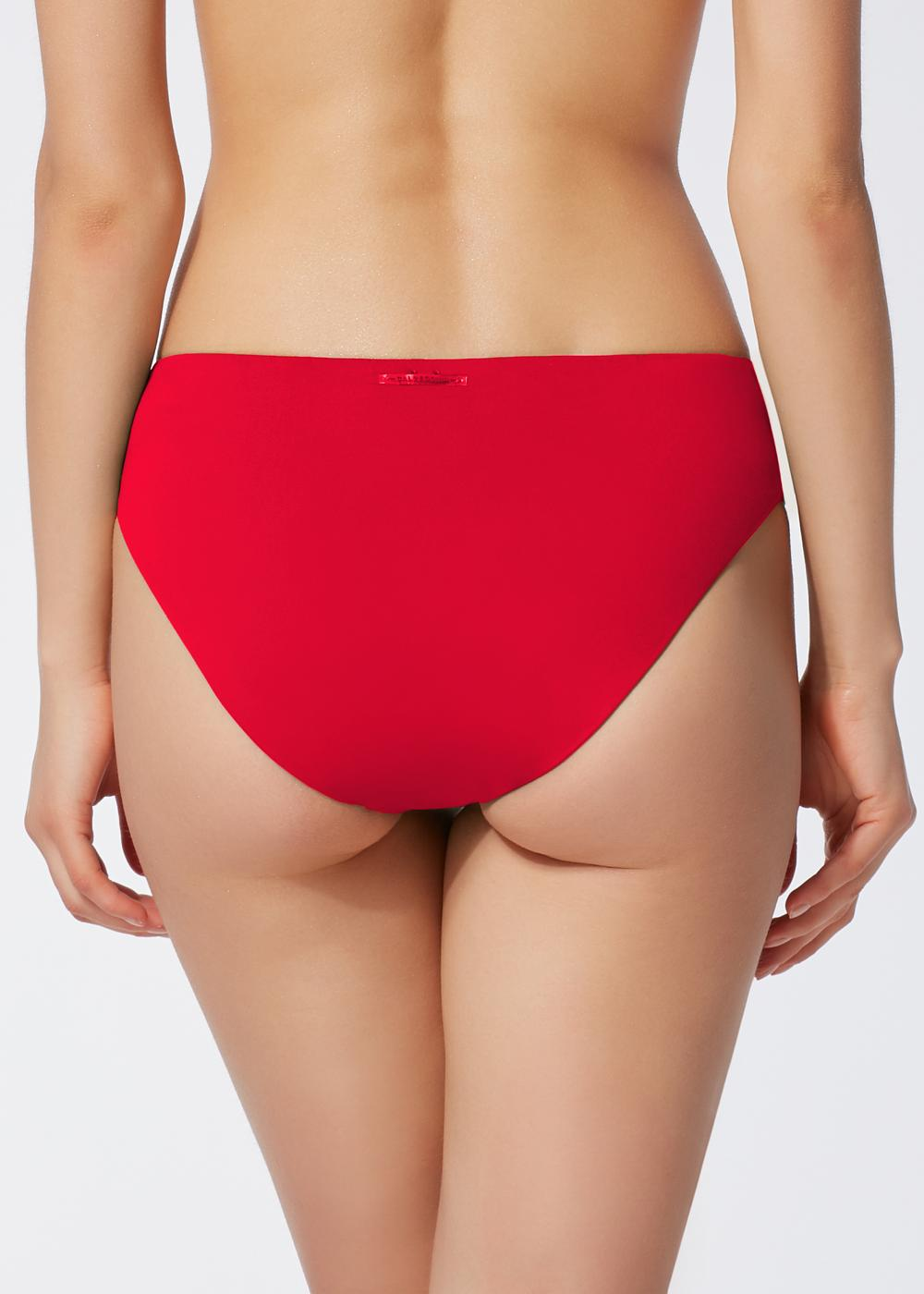 Indonesia High-Waisted Shirred Bikini Briefs