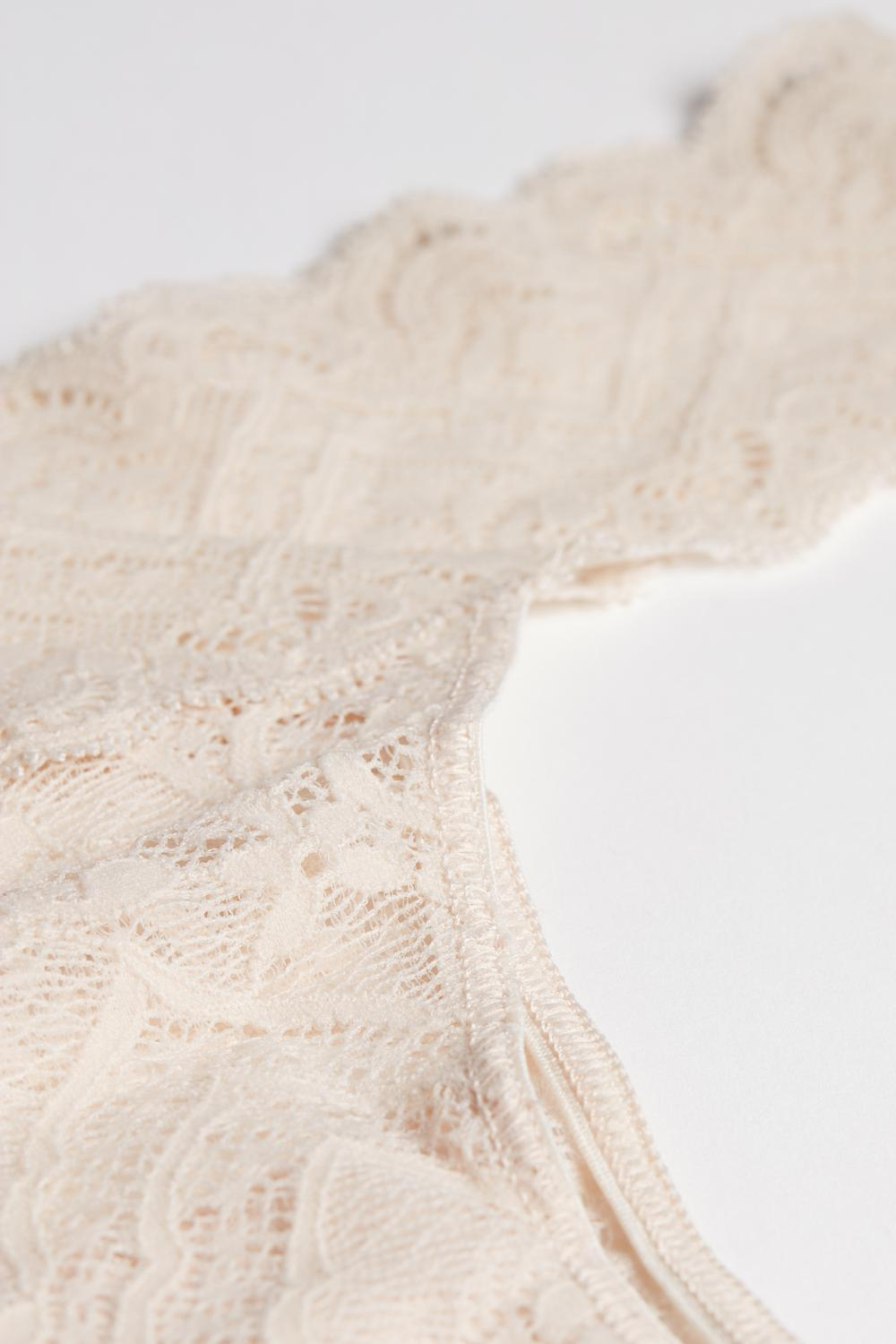 Low-Waisted Lace Brazilian Panties