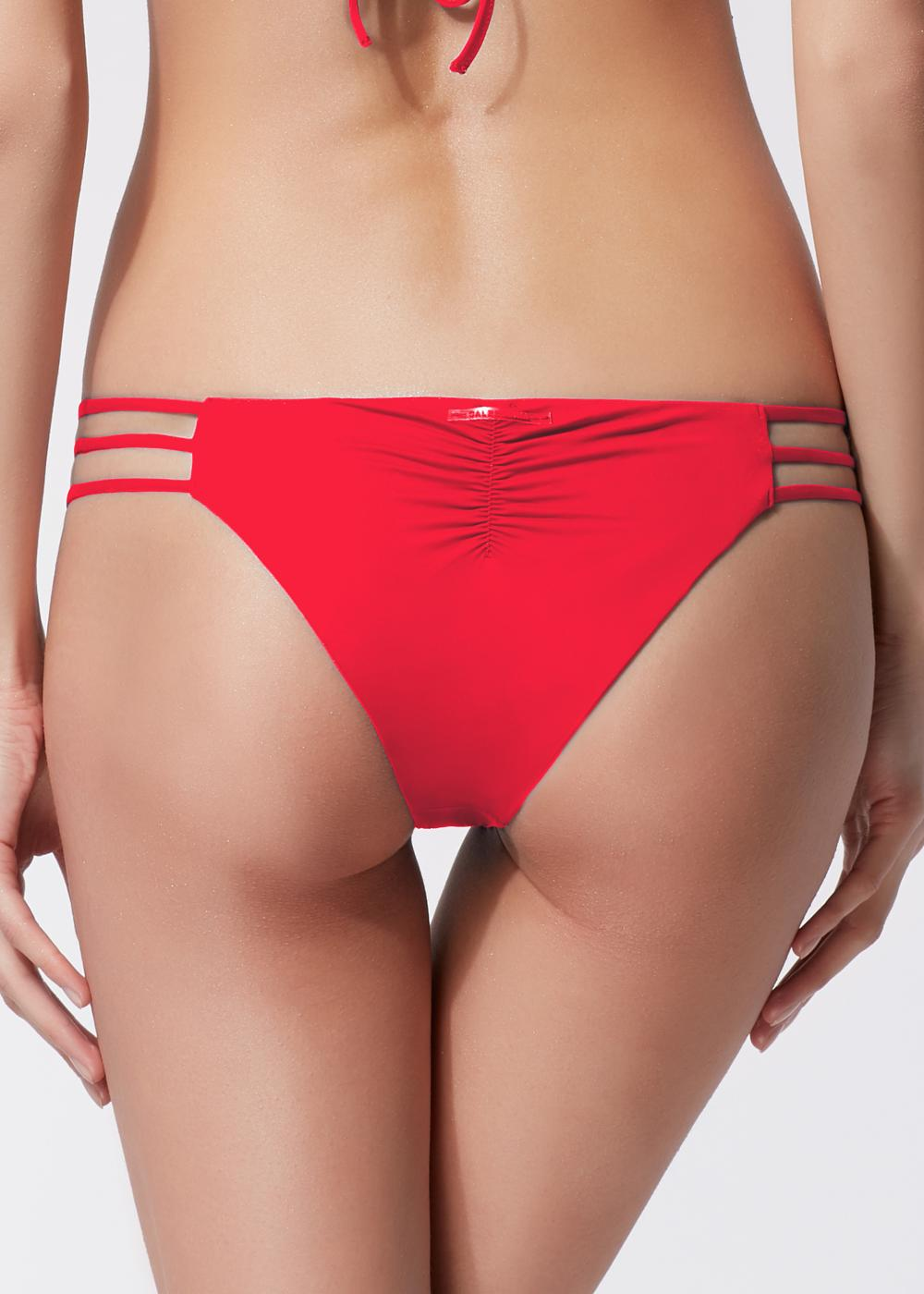 Indonesia Brazilian-style Bikini Briefs with Multi-Strap Details