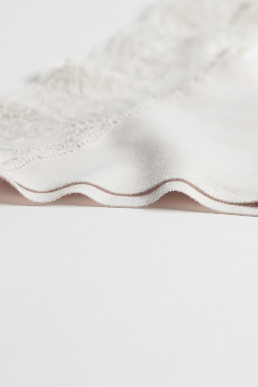 Raw-Cut Microfibre Brazilian Briefs