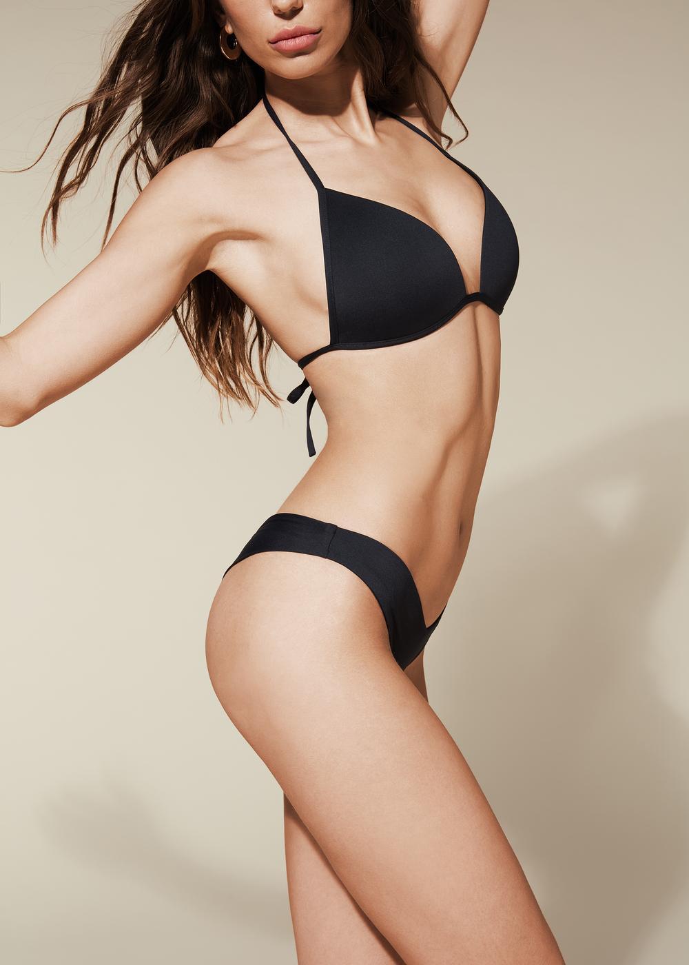 Braguitas de bikini brasileñas de pernera alta Indonesia