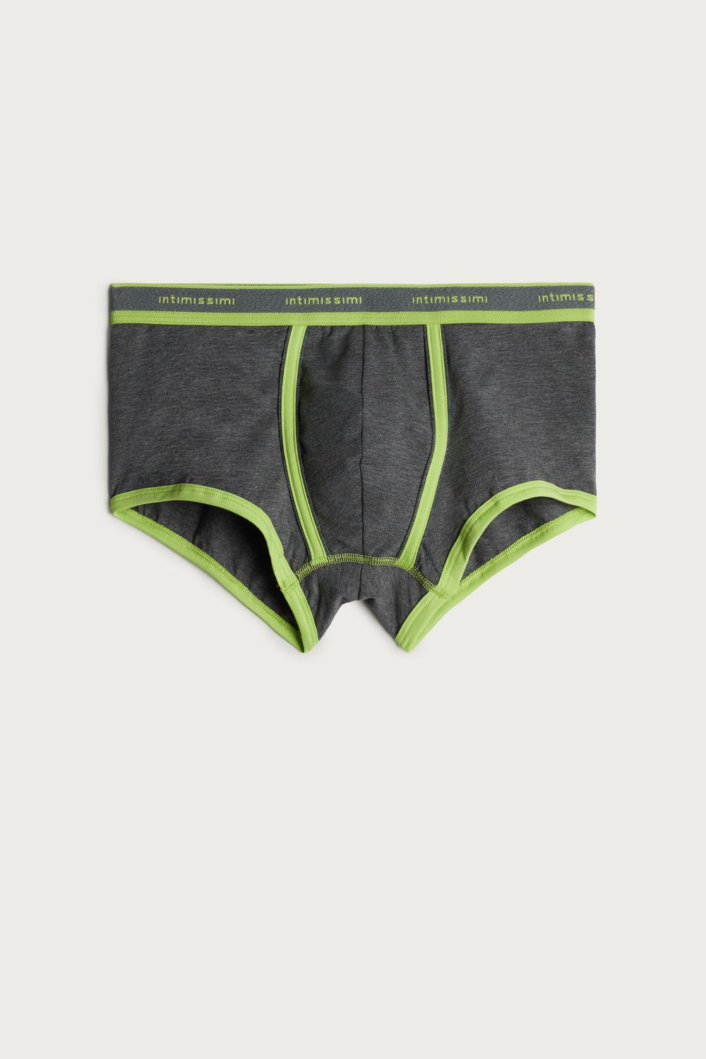 Stretch Supima® Cotton Boxer Shorts with Logo Detail