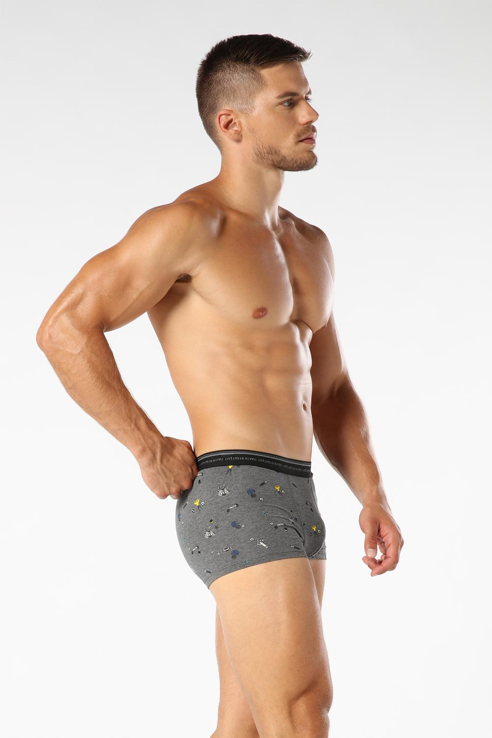 Microprinted Cotton Boxers