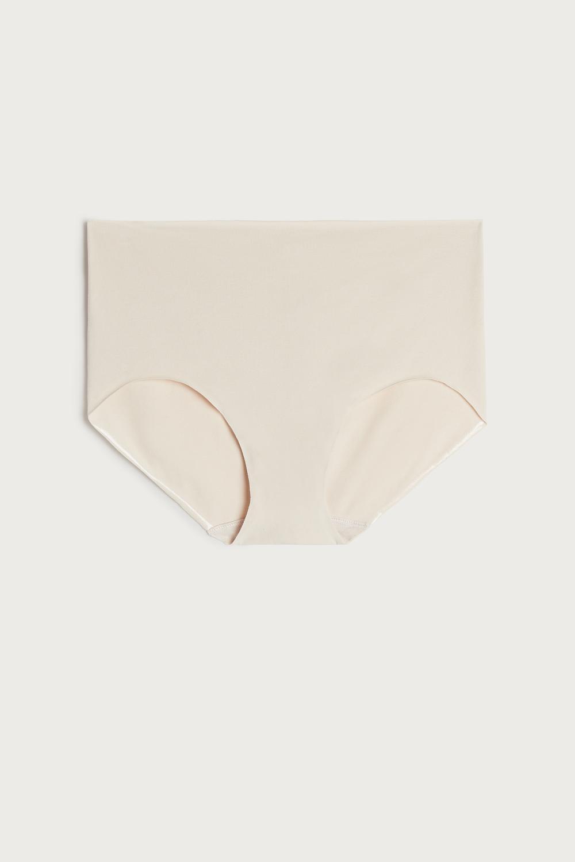 Raw-Edge Cotton Panties