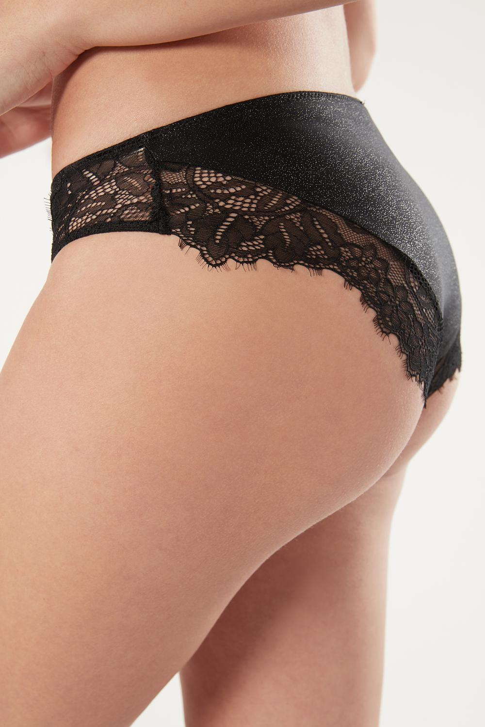 Metallic Lace Knickers