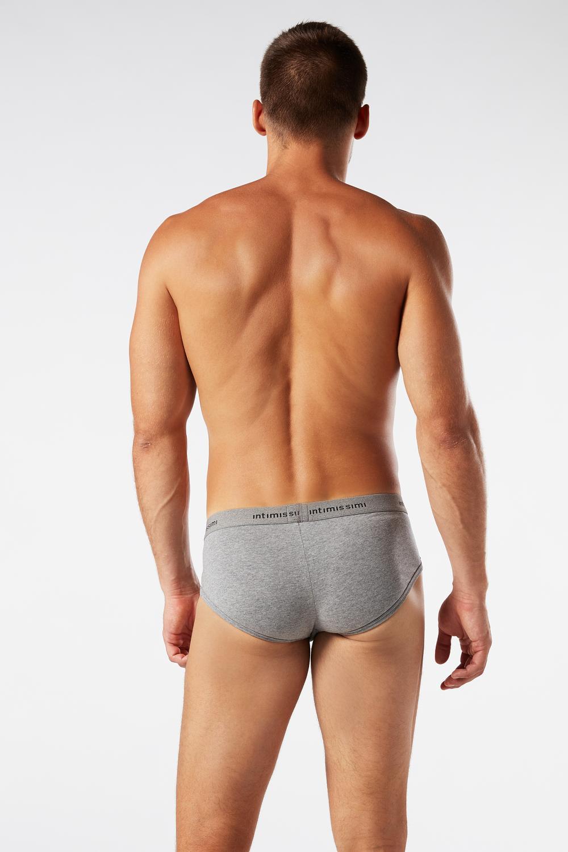 Men's Stretch-Cotton Briefs with Logo Detail