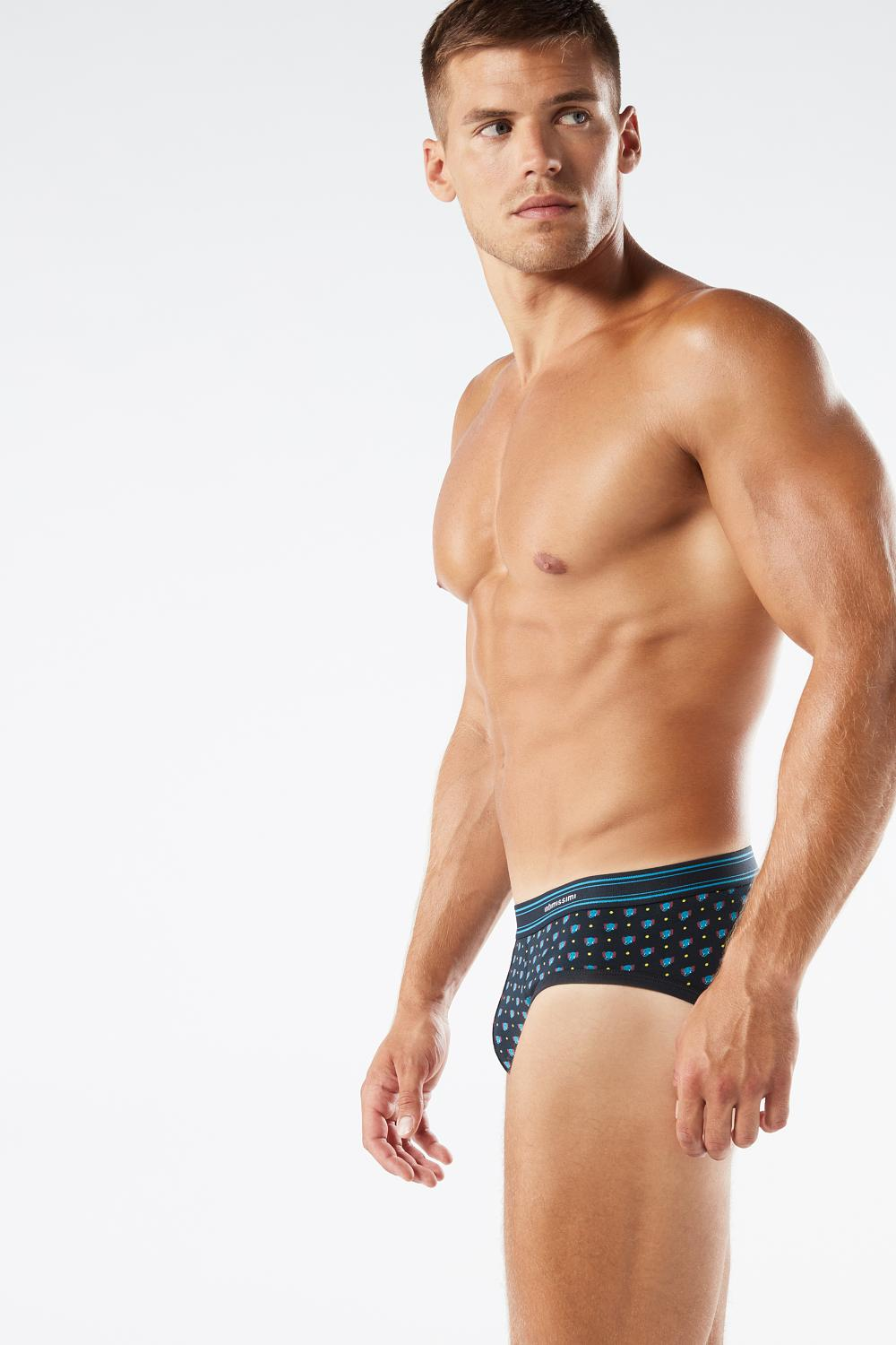 Microprinted Cotton Briefs