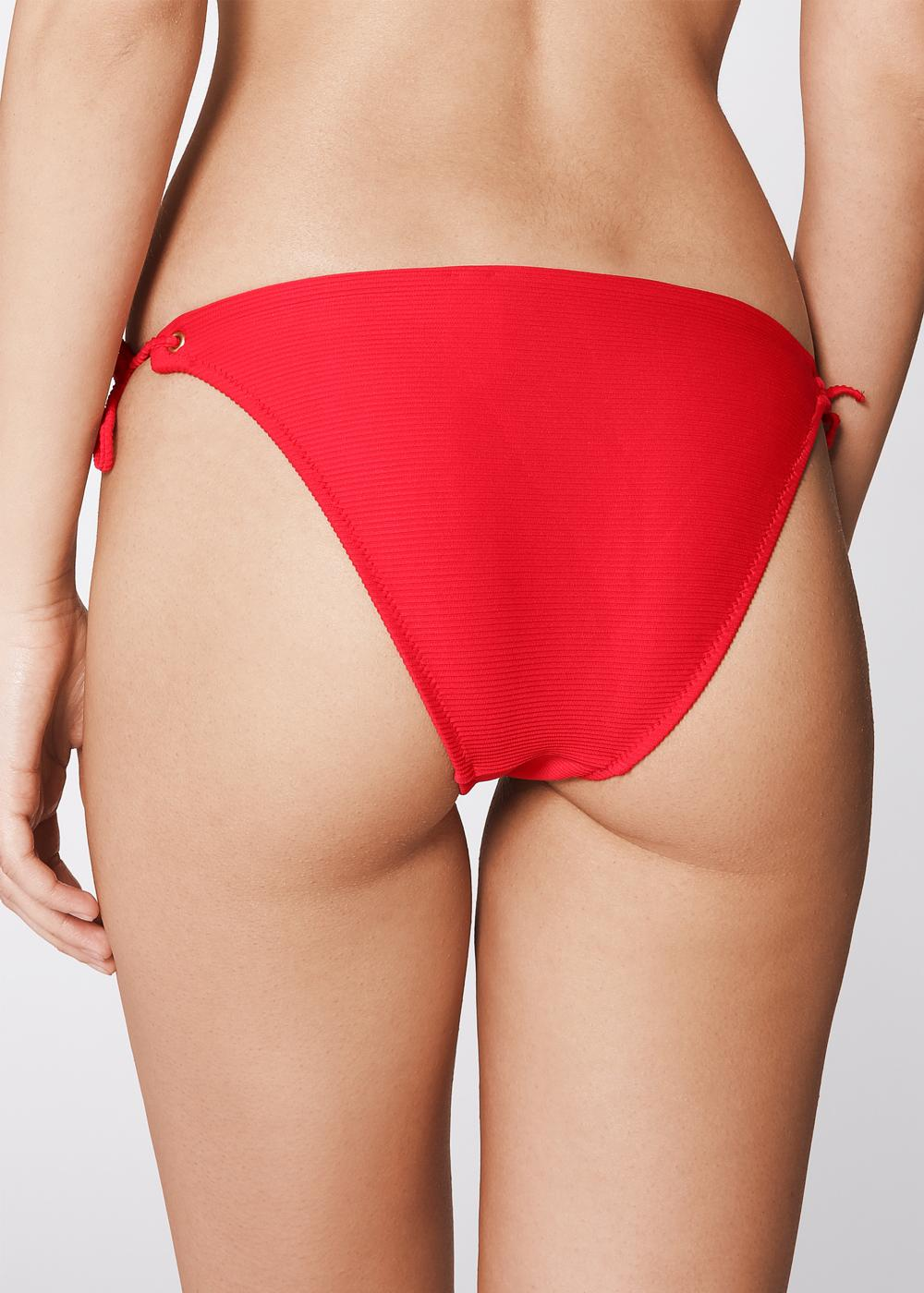 Ester Bikini Briefs with Ties and Raised Stripes