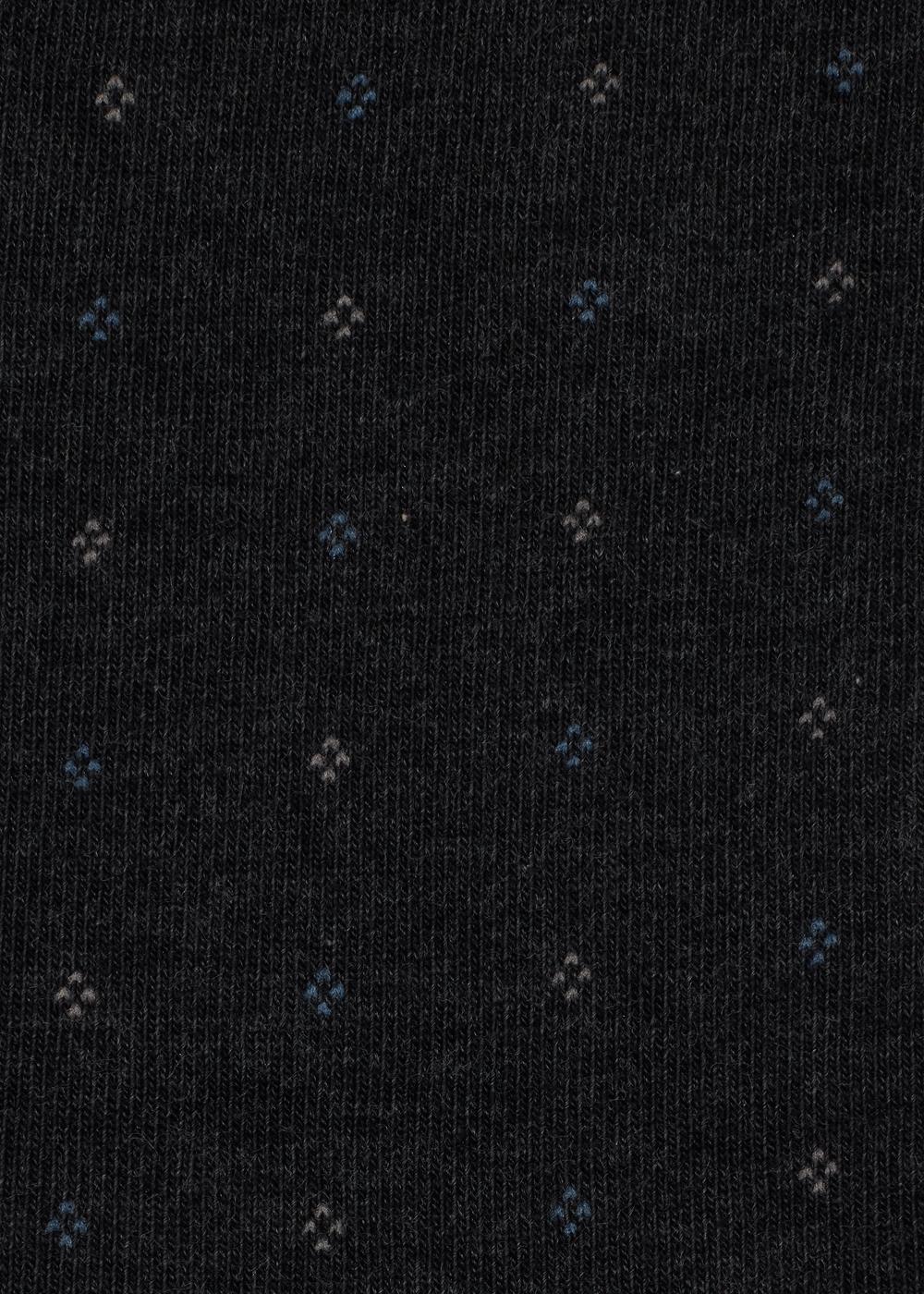 Meias curtas de algodão com padrão para homem