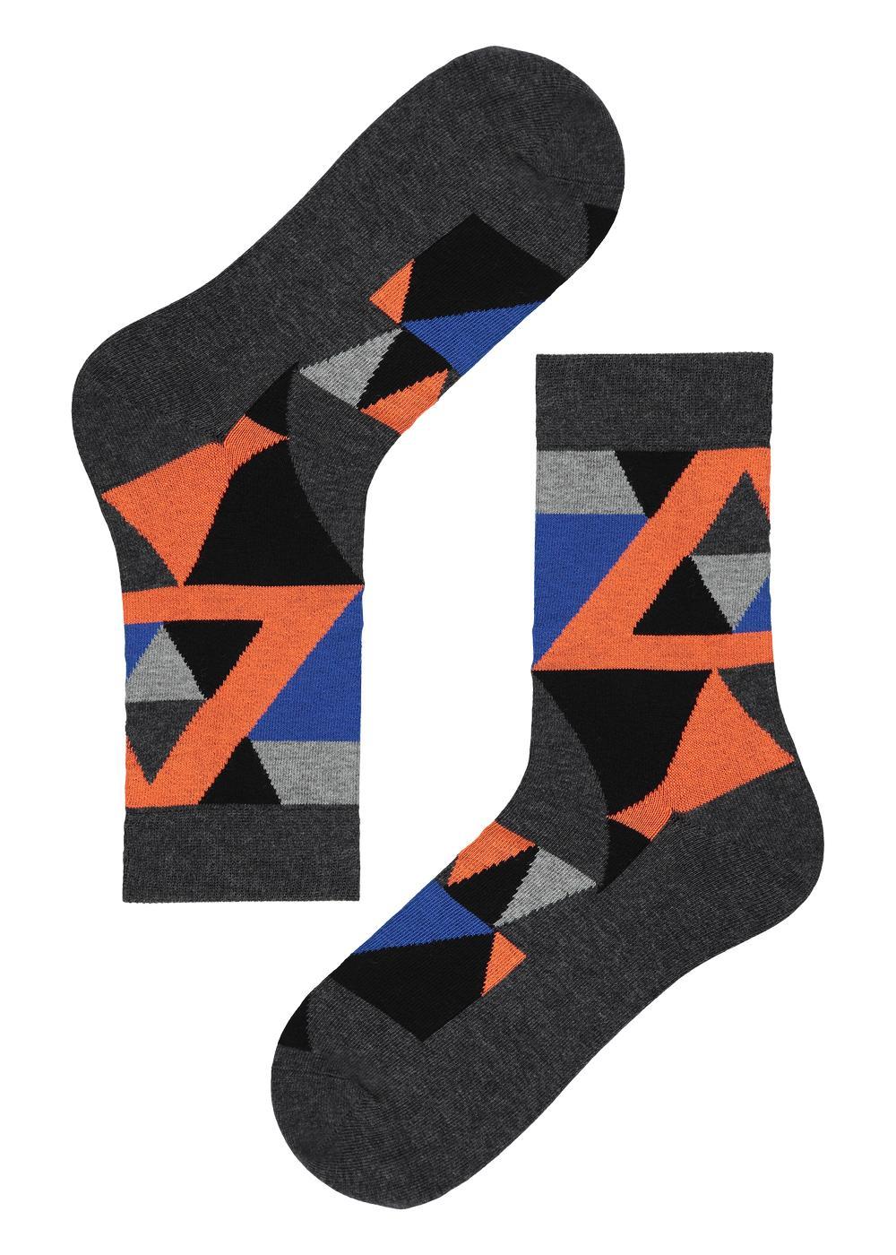 Men's Patterned Cotton Short Socks