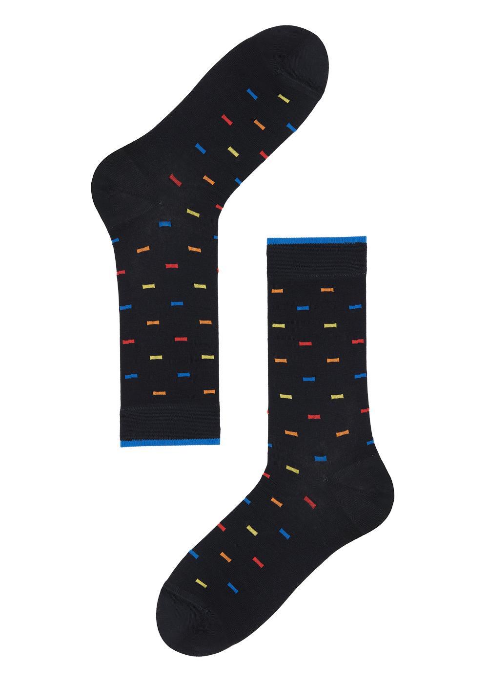 Patterned cotton ankle socks