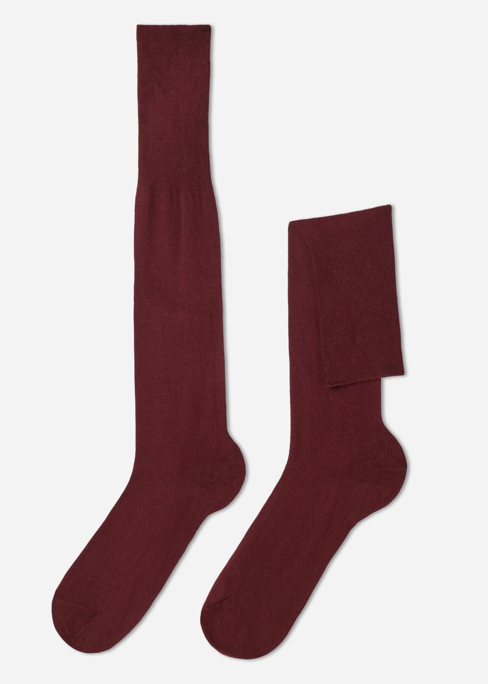 Calcetines largos con cashmere