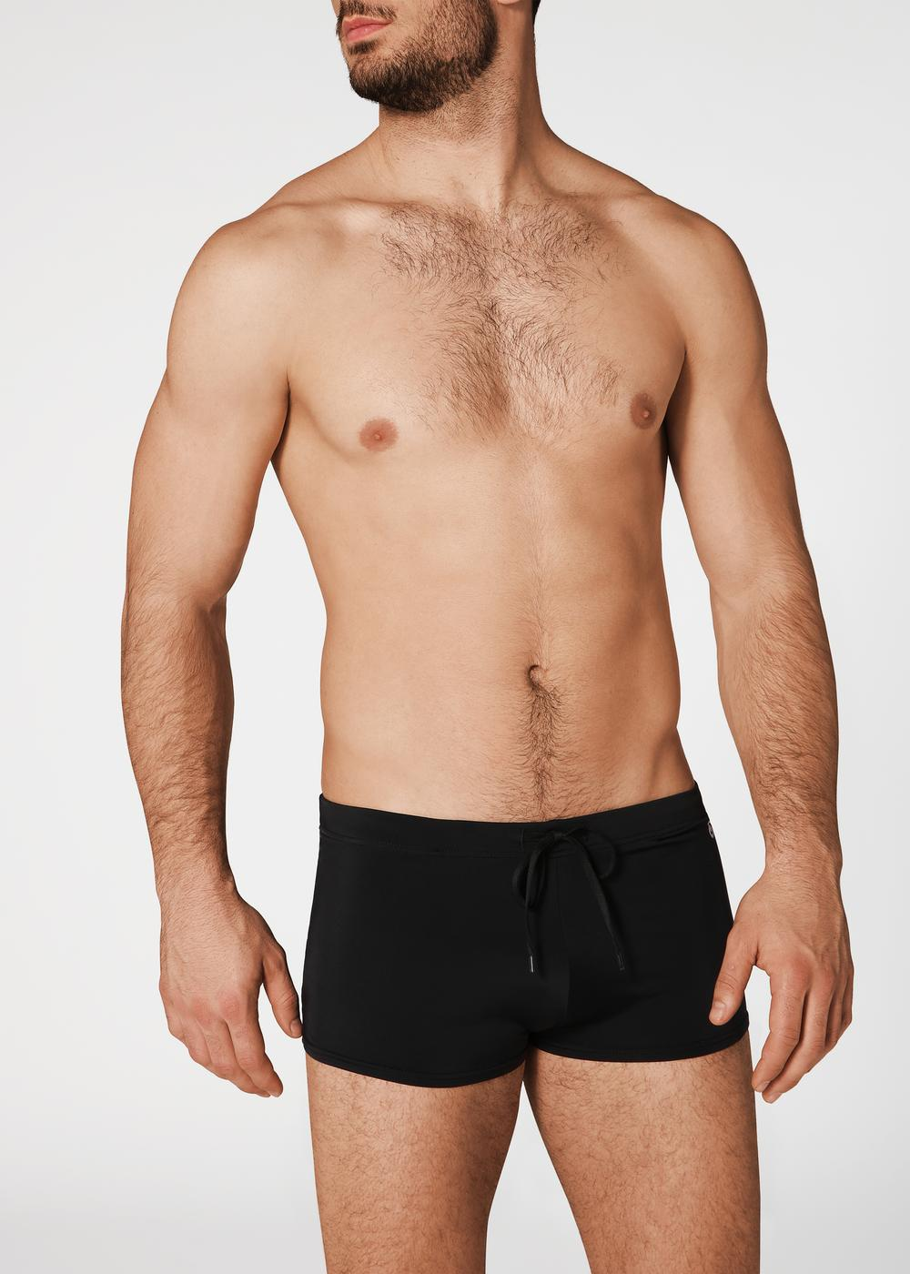 Men's Panama Boxer-Style Swimming Trunks